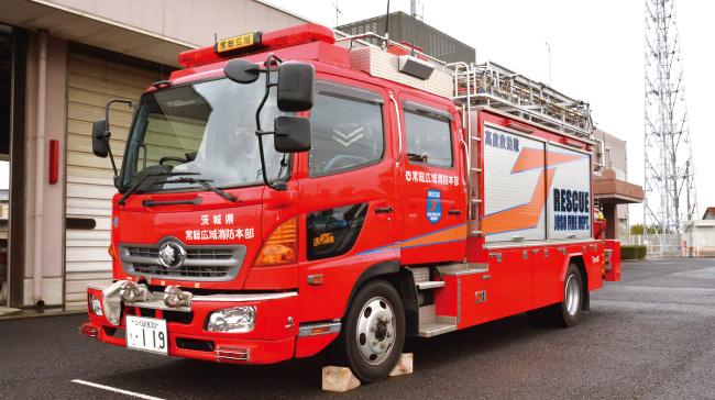 水海道消防署の消防車両