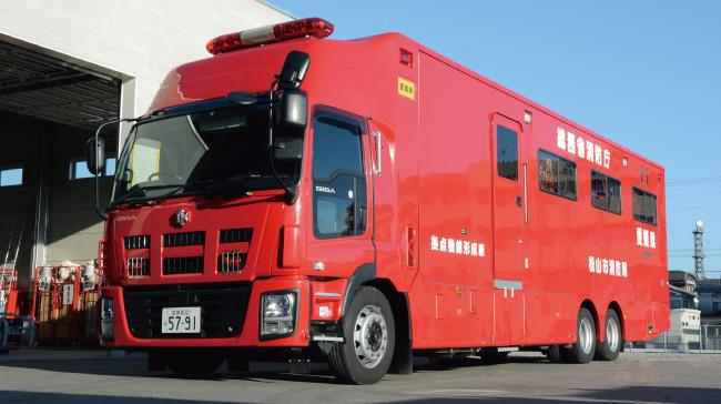 松山市消防局の緊急車両