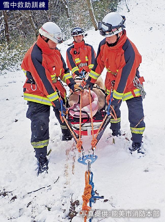 雪中救助訓練