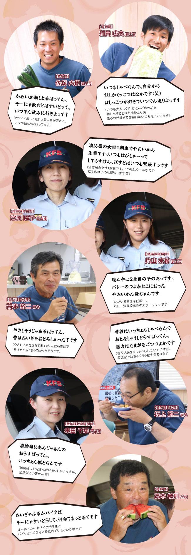 熊本市消防局 北消防署の仲間たち2!