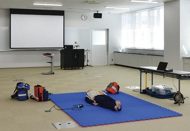 救急実習室床下