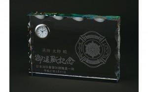ウェーブカットクリスタル時計
