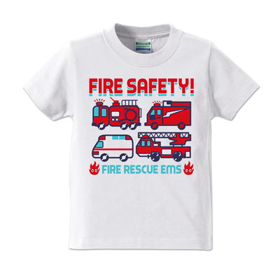 FIRE SAFETY キッズ T-shirt 【受注生産】